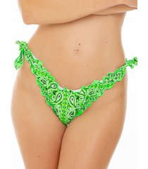 mc2 saint barth green bandana frou frou swim briefs