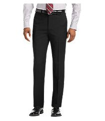 1905 collection tailored fit flat front textured men's suit separate pants - big & tall by jos. a. bank