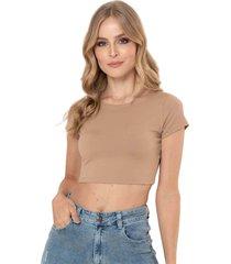 camiseta cropped bali beige ragged pf13120473
