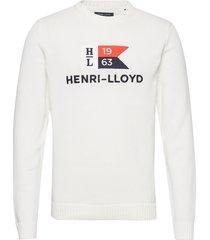 cross knit gebreide trui met ronde kraag wit henri lloyd