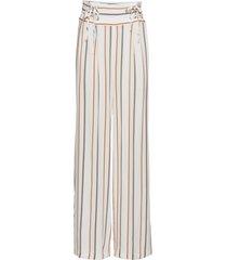 pantaloni a palazzo con stringature (beige) - rainbow