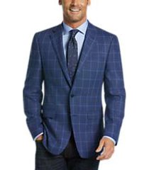 calvin klein blue windowpane slim fit sport coat