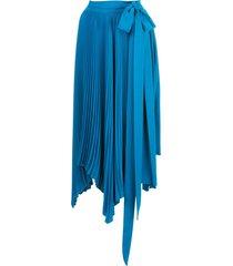 amur delia pleated skirt - blue