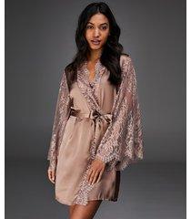 hunkemöller kimono silke rosa