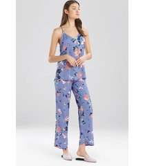 flora- the siesta pajamas set, women's, blue, size xl, josie
