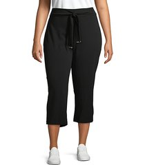 plus tapered tie crop pants