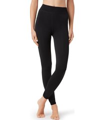 calzedonia - thermal plush leggings, xs/s, black, women
