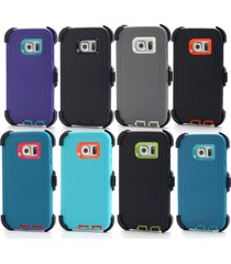 defender case & belt clip for galaxy s6/s7 & edge (holster fits otterbox) colors