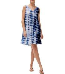 women's michael stars scarlett flounce dress, size x-small - blue