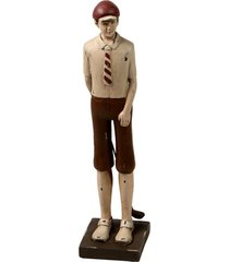 escultura decorativa de resina jogador de golf