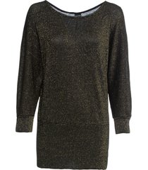 maglia in lurex con maniche a pipistrello (oro) - bodyflirt