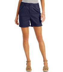 style & co mid-rise cuffed shorts, created for macy's