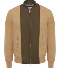 alexander mcqueen two-tone panelled bomber jacket - brown