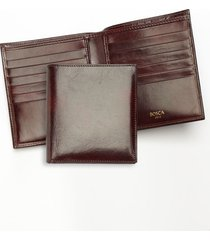 men's bosca old leather card wallet - brown