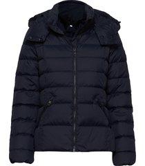 d2. classic down jacket gevoerd jack blauw gant