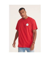 camiseta fatal plus size estampada vermelha