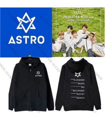kpop astro summer vibes zipper coat unisex jacket outwear mj eunwoo moonbin