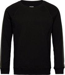 cotton rib stelt tape sweat-shirt trui zwart mads nørgaard