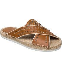 pia sandaletter expadrilles låga brun see by chloé