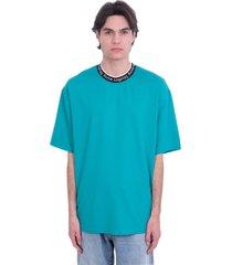 acne studios extorr logo t-shirt in green viscose
