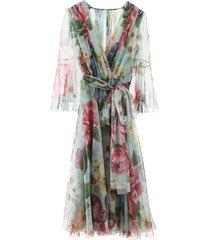 dolce & gabbana floral chiffon dress