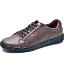sapatãªnis over boots couro soft marrom - marrom - masculino - couro - dafiti