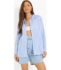 gestreepte boyfriend blouse, blue