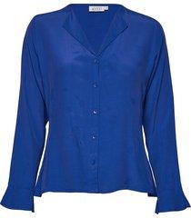 irita blouse blouse lange mouwen blauw masai