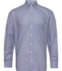 eton midi medallion print shirt skjorta casual blå eton