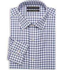 saks fifth avenue men's slim-fit check dress shirt - blue - size 15 32