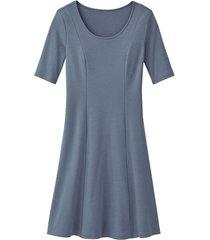 jersey jurk, rookblauw 38