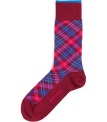 burlington socks purple cadogan tartan socks 21046-8237
