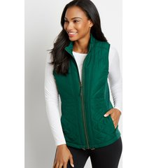 maurices womens green zip up vest