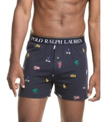 polo ralph lauren men's signature-print knit boxers