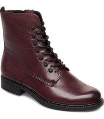 woms boots shoes boots ankle boots ankle boots flat heel röd tamaris