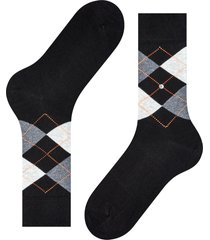 burlington socks king soft combed socks   black/orange   21020-3011