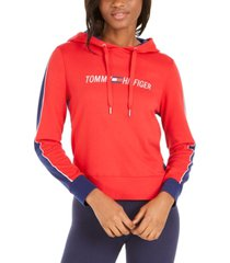 tommy hilfiger colorblocked logo hoodie