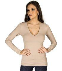 blusa básica slim colcci feminino
