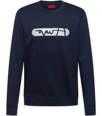 hugo men's dicago long sleeve sweatshirt with embroidered logo