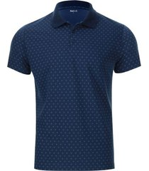 polo hombre estampado miniprint cruces color azul, talla xs