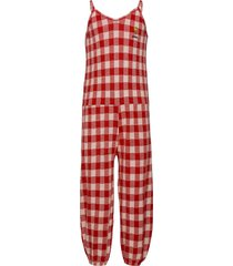 vichy jersey overall jumpsuit rood bobo choses