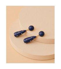 brinco de resina - brinco nang cor: azul - tamanho: único