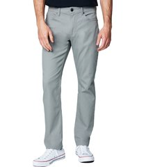 men's blanknyc the wooster slim fit twill five pocket pants, size 34 - grey