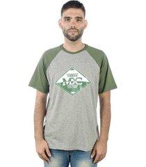 camiseta mxc brasil urban culture raglan - masculino