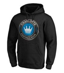 authentic mls apparel charlotte fc men's logo hooded sweatshirt