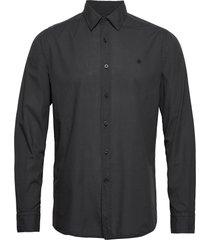 albert button under shirt overhemd business blauw morris