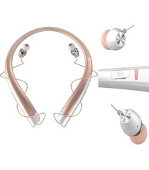 audífonos bluetooth deportivos inalámbricos, hbs-1100 auricular inalámbrico audifonos bluetooth manos libres  csr4.1 alta calidad neckband deportes auriculares (oro)