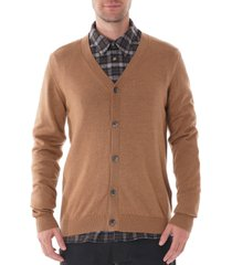 none of the above merino wool cardigan camel - nota8004