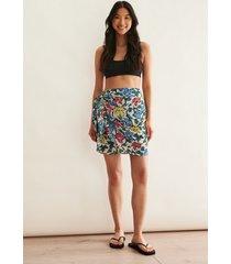 na-kd trend minikjol med sarongknyt - multicolor