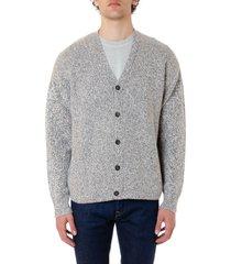 john elliott white & grey wool blend v-neck cardigan